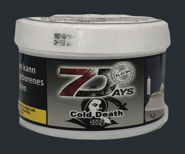 7 Days Platin Tabak 200g Dose - Cold Death